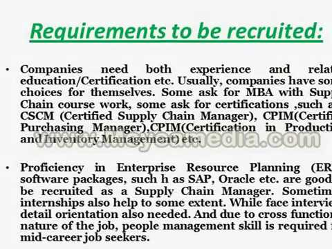 Supply Chain Management Career