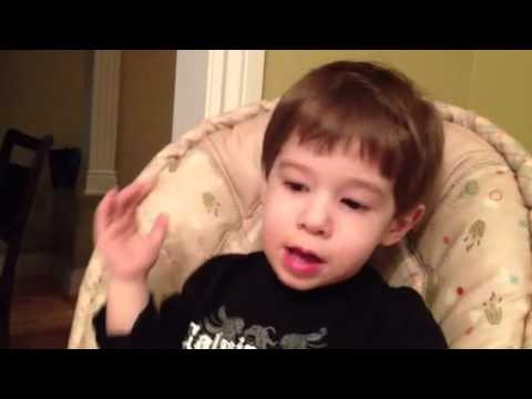 Autistic boy says alphabet backwards French/English before he was 3-Must see!