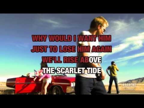 The Scarlet Tide in the style of Alison Krauss | Karaoke with Lyrics