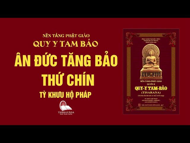 11. Ân Đức Tăng Bảo Thứ Chín - Tỳ Khưu Hộ Pháp - QUY Y TAM BẢO