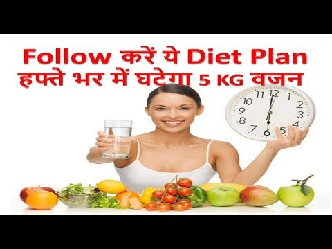HOW TO LOSE WEIGHT FAST 5 Kg in 7 Days – Indian Diet Plan / Veg Meal Plan by Pooja Luthra in Hindi
