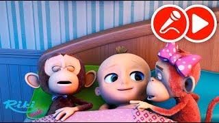 Джони Джони и Обезьянки -Ten In The Bed Nursery Rhyme - Песенки и караоке