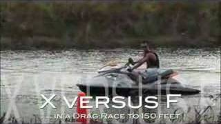 DRAG RACE - FERRARI 430 versus 2009 Sea-Doo RXP-X in Everglades