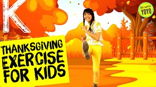 THANKSGIVING FUN | Turkey Fitness and Yoga  🦃 GO with YOYO - Fitness Brain Breaks