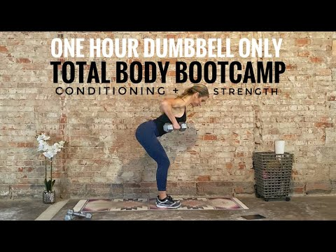One Hour Total Body Bootcamp | Dumbbells Only | Conditioning + Strength