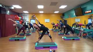 All Out Cardio Step & Kickboxing! High Calorie Burn!