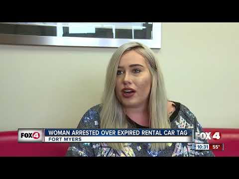 Woman Pulled Over for Expired Rental Car Tag