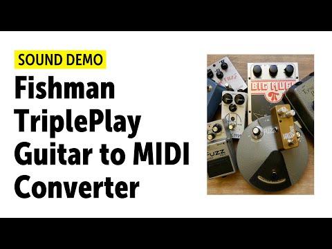 Fishman TriplePlay Guitar To MIDI Converter - Sound Demo (no Talking)