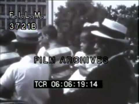 Selma to Montgomery March (stock footage / archival footage)