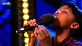 11 Year Old ASANDA JEZILE sings Rihanna's Diamonds on Britain's Got Talent