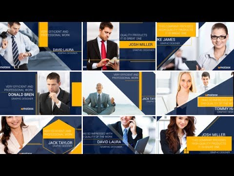 Corporate Title Slideshow | After Effects template
