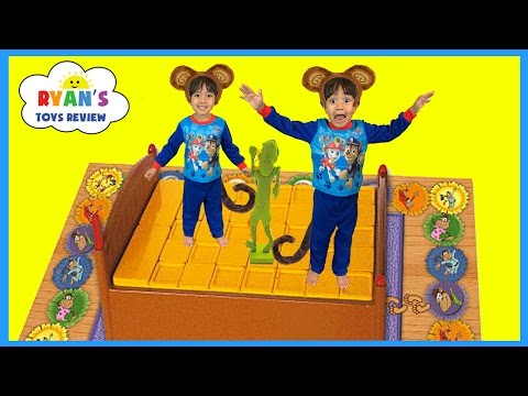 Thumbnail: Monkeys Jumping on the Bed Family Fun Games for Kids Pretend Play Egg Surprise Toys Peppa Pig