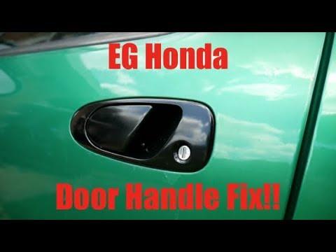 Eg Honda Civic Del Sol Door Handle Fix Youtube