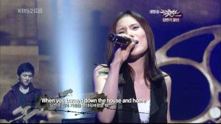 [Full HD] Gummy + Lyn + Hwayobi - 21 Guns @ Music Bank [25.06.10] + Download [YGLvnUT]