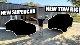 homepage tile video photo for BUYING MY NEXT SUPERCAR & NEW TOW RIG IN THE SAME DAY! (double car reveal!)