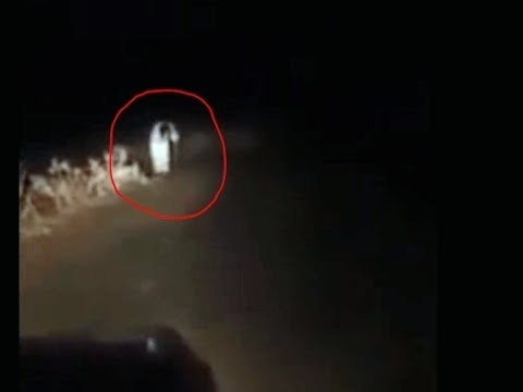 Ghost of an Old Lady Caught on Tape Blocking a Road | Footage Reviewed