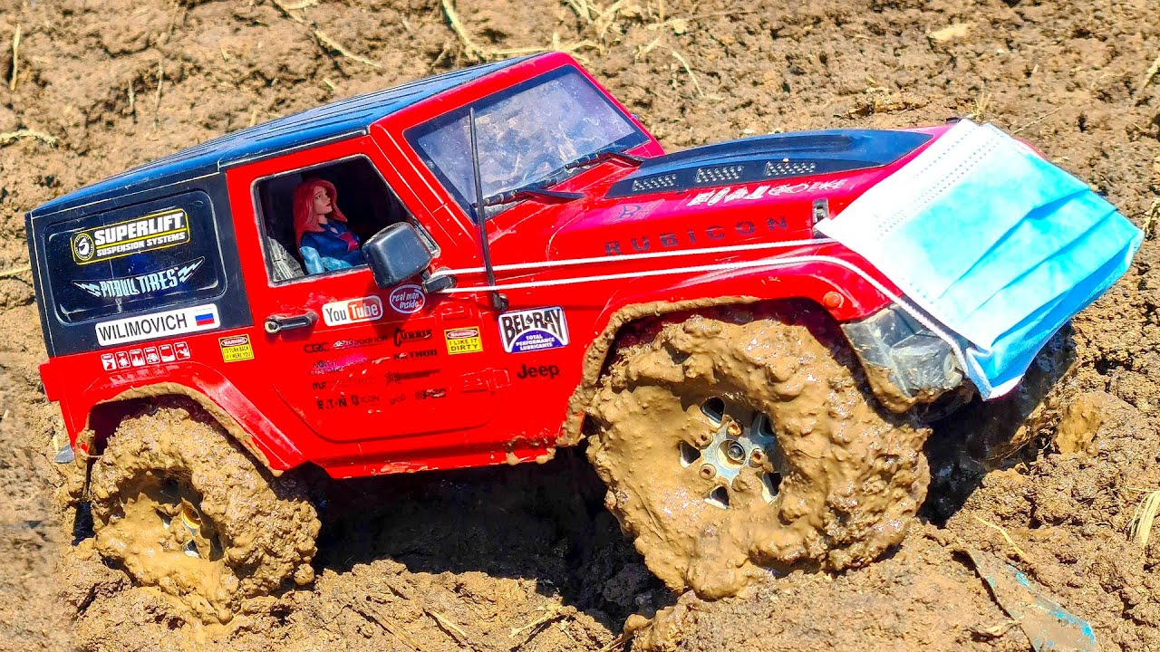 RC Cars in Therapeutic MUD - Jeep Wrangler Rubicon, Toyota FJ Cruiser — Wilimovich