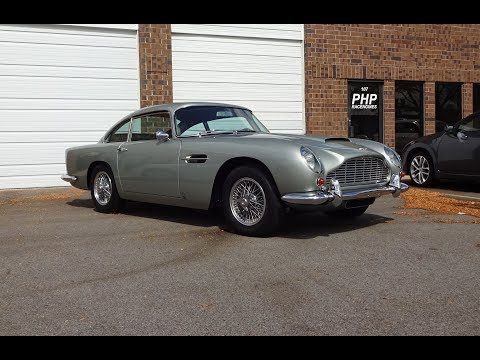 1966 Aston Martin DB5 in Silver Birch Paint & Engine Sound on My Car Story with Lou Costabile