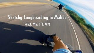 Sketchy Longboarding in Malibu: Helmet Cam