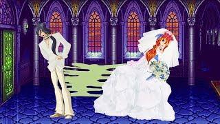 WINX CLUB Glued Wedding Dress - love story fan animation cartoon