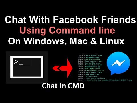 How To Chat With Facebook Friends Using Command Line - Messenger In Console