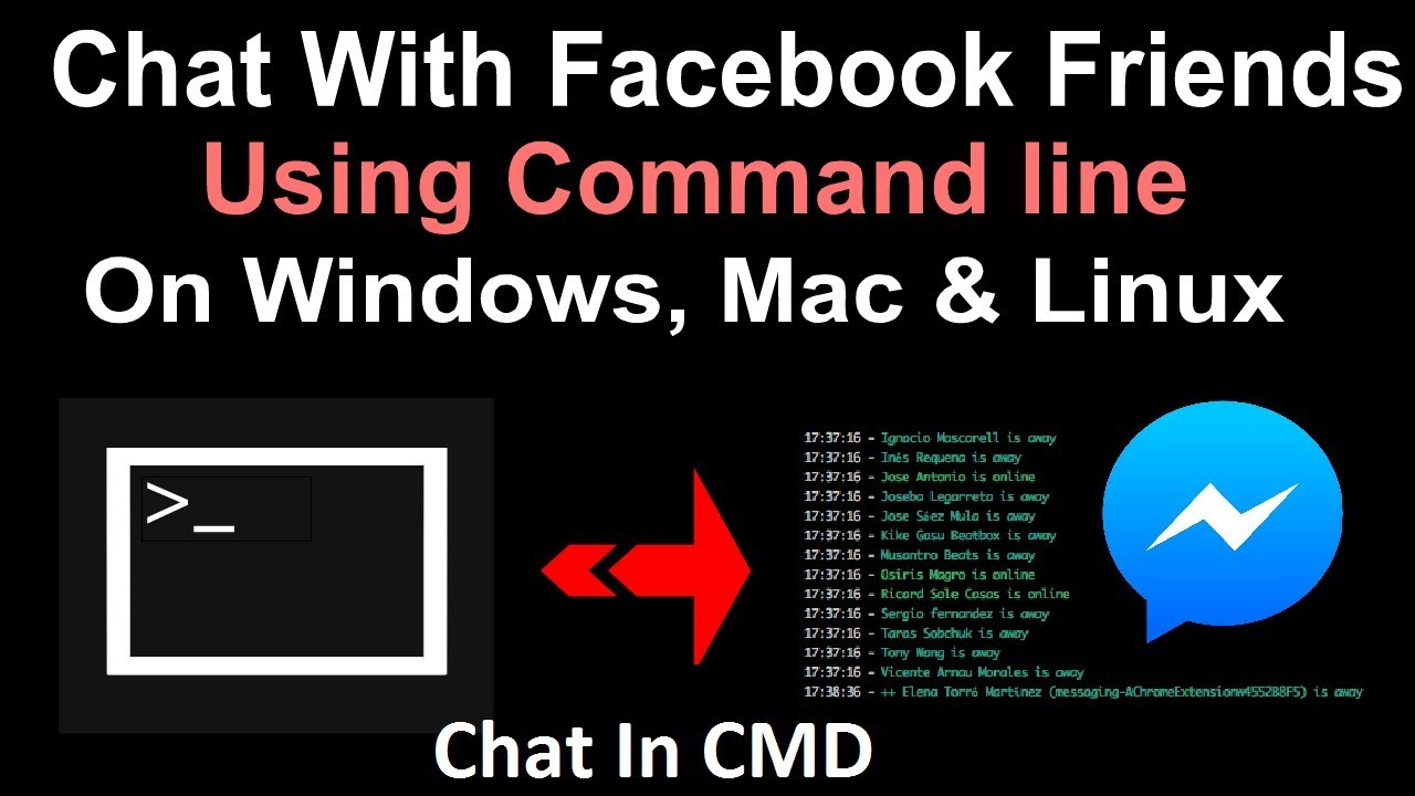 How To Chat With Facebook Friends Using Command line