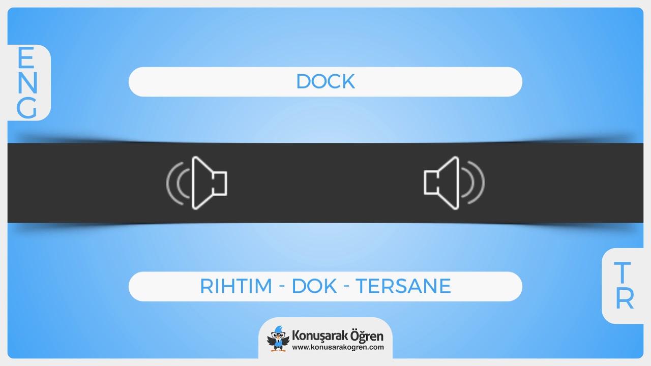 Dock Nedir Dock Ingilizce Türkçe Anlamı Ne Demek Telaffuzu Nasıl
