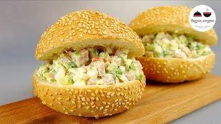 Салат закуска за 10 минут НА БЕГУ  В школу, на пикник или на праздничный стол