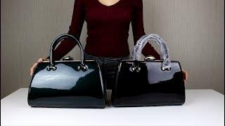 Обзор женской лакированной сумки
