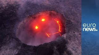Kilauea volcano on Hawaii's Big Island smiles as it erupts