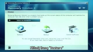 Samsung Recovery Solution 4 - Wykonanie Podstawowego Przywrócenia