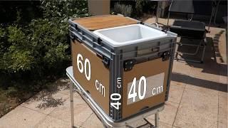 campingbox 60 x 40 x 40 cm / weniger ist oft genug
