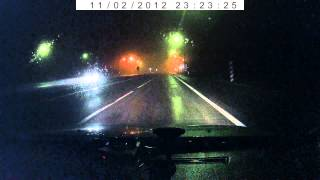 V1 vs Trucam ночью в тумане