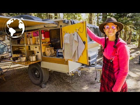 Leaving the Big City to Run a Business out of Converted Military Travel Trailer