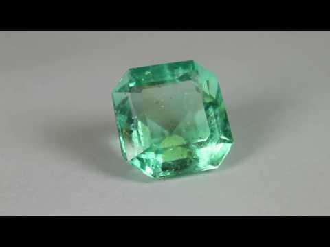Clean Clarity Asher Cut Natural Emerald Loose Gemstone