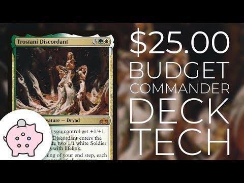 Trostani Discordant | EDH Budget Deck Tech $25 | Tokens | Magic the Gathering | Commander