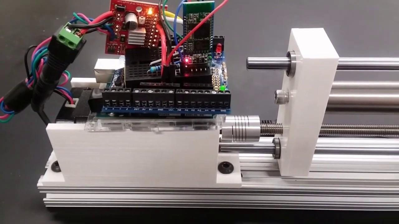 How to make a syringe pump with nema 17 stepper motor / nema