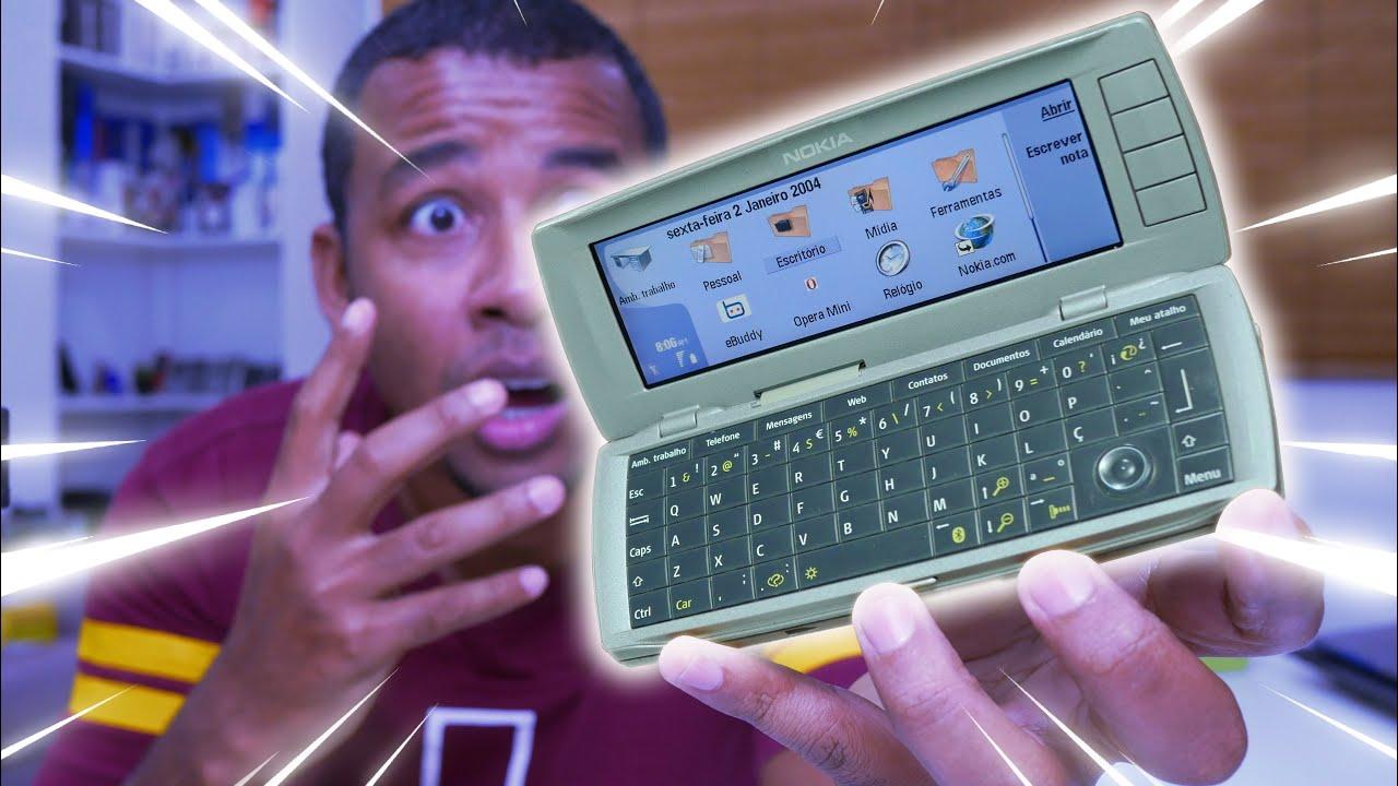 Foi o PRIMEIRO CELULAR que se TRANSFORMAVA em COMPUTADOR | Nokia 9500 Communicator