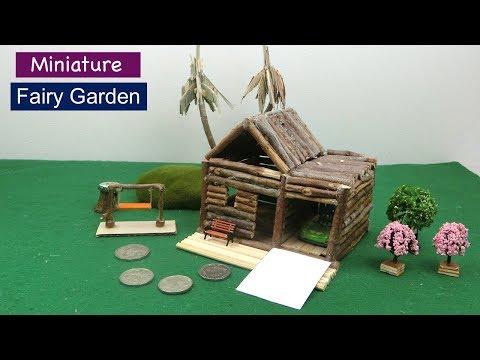 DIY Fairy Garden #18   How to make Wooden Fairy House   Easy Craft ideas