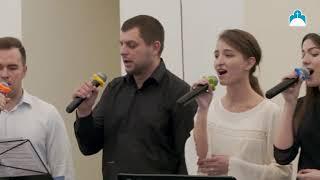 """Слав душе Господа! Квартет в сопровождении оркестра ц. """"Преображение"""", г. Харьков."""