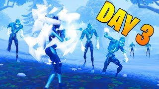DAY 3 - Destroy Ranged Ice Fiends : ICE STORM CHALLENGES : FORTNITE BATTLE ROYALE