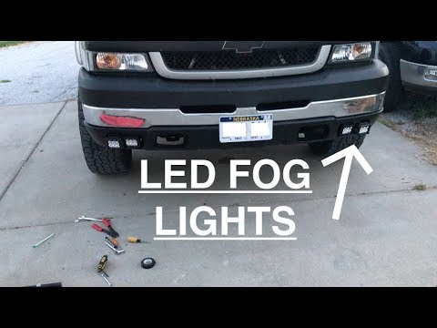 2005 Silverado 1500 >> DURAMAX gets new Fog Lights - DIY bracket for LED Pods - YouTube