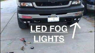 DURAMAX Gets New Fog Lights - DIY Bracket For LED Pods