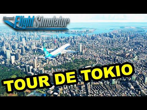 Microsoft FLIGHT SIMULATOR 2020 ✈️   Visitamos TOKYO - Tour Turístico Desde el Aire