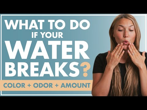 WHAT TO DO IF YOUR WATER BREAKS | Am I leaking Amniotic Fluid or is it My Water Breaking or Pee?