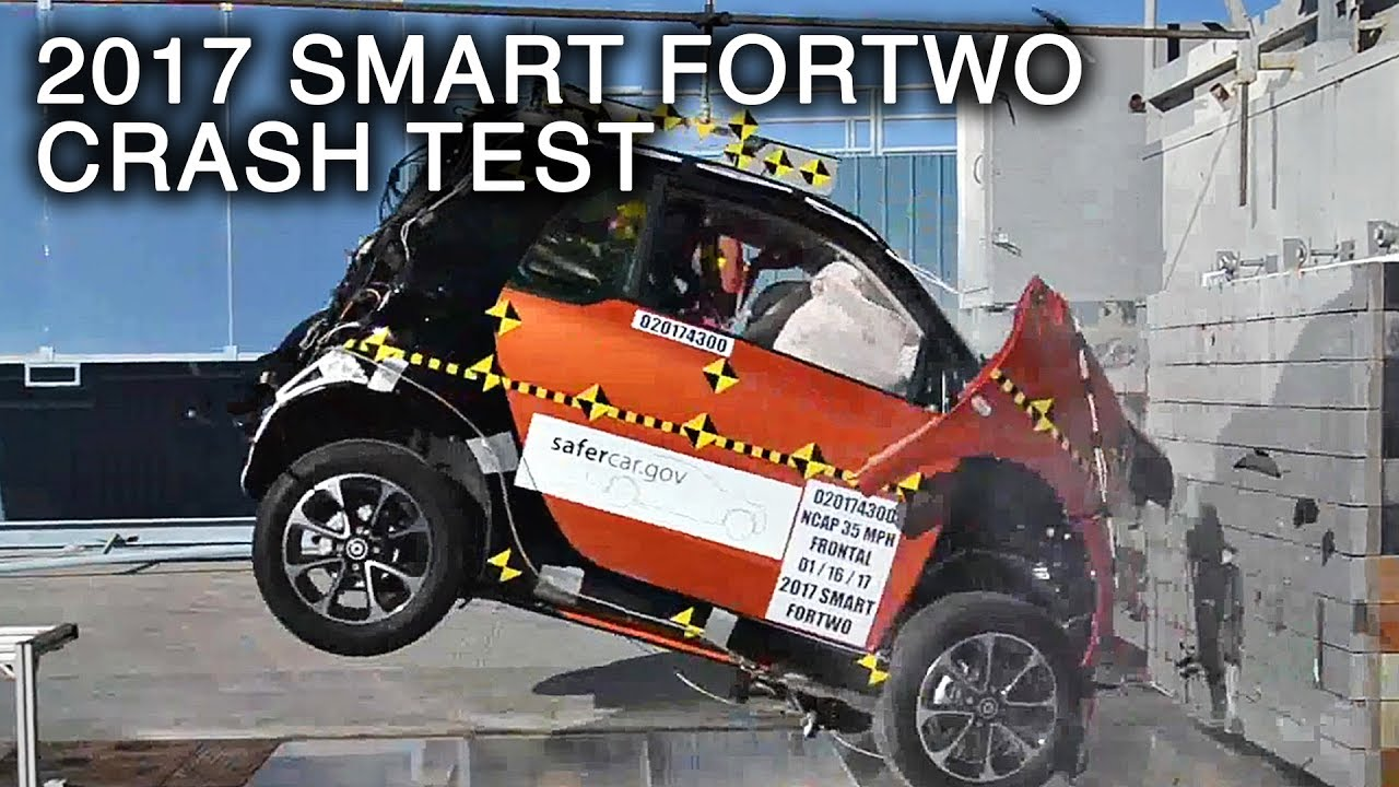 2017 smart fortwo frontal crash test youtube. Black Bedroom Furniture Sets. Home Design Ideas