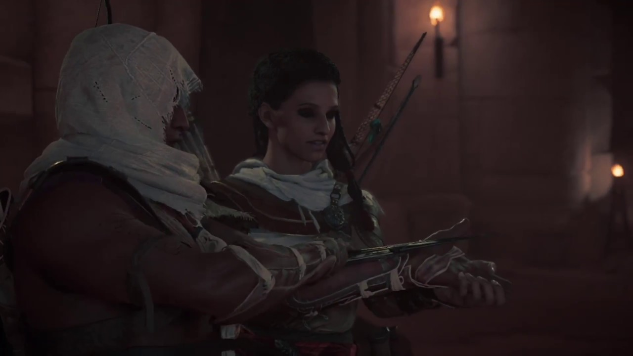 Assassin S Creed Origins Receiving The First Hidden Blade Youtube