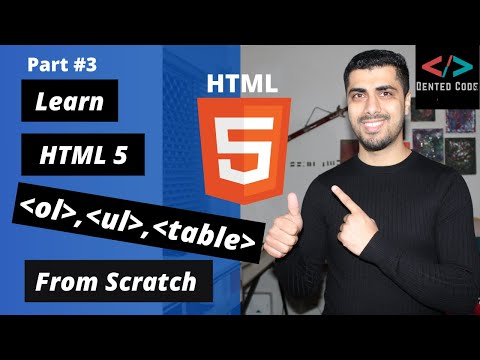 HTML Crash Course For Absolute Beginners 2020 | Part #3 | HTML Lists And HTML Table