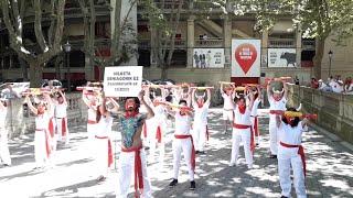 Protesta en Pamplona contra las corridas de toros