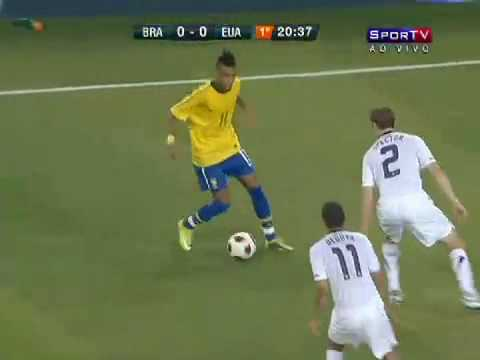 Neymar, Ganso and Robinho Sportv Clip - Friendly Match Brazil x USA (10/08/2010)